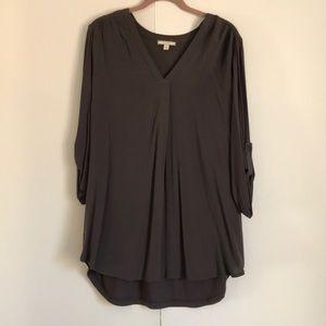 Charcoal 3/4 sleeve tunic
